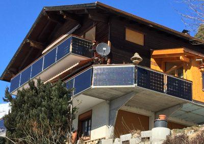PV Geländer zwei Balkone Süd-West